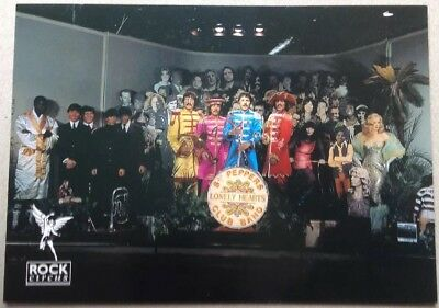 The Beatles Sgt Peppers  Lonely Hearts Club Band Photoshoot Vintage Postcard