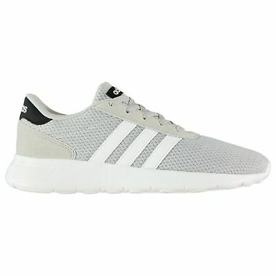official photos f7e05 f243c adidas Lite Racer Trainers Mens GreyWhiteBlack Sports Shoes Sneakers