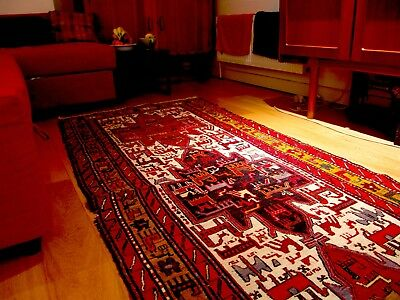 Lovely Large Red Woollen Turkish Rug to brighten any room