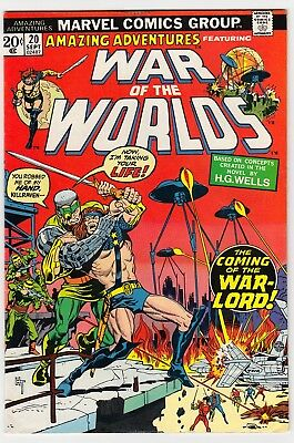 AMAZING ADVENTURES #20 Marvel 1973 War of the Worlds Killraven Herb Trimpe VF-
