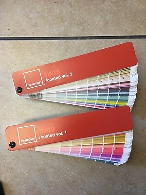 Pantone Formula Color Guide - Tints - Coated and Uncoated with Case Volume 1 & 2