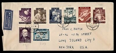 1954 Austria Airmail Cover To Usa 63422