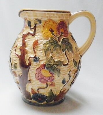 Very Large H J Wood Indian Tree Jug - Made in England