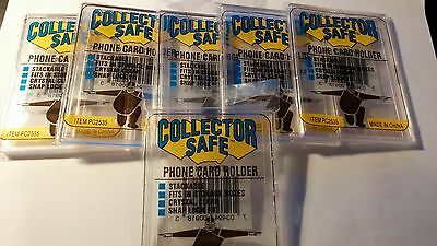 6 Collector Safe Phone / Credit / Gift Card or Hotel Key Holders  New In Package