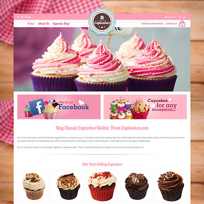 CupiCakes.com - Cupcakes Website eCommerce Business For Sale Home Baking Online