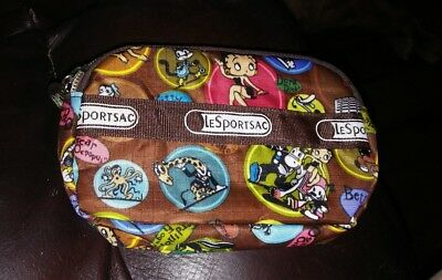 LeSportsac Double Unicorn Zip Wallet NWOT Betty Boop