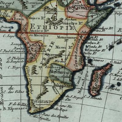 Africa Mts. of Moon c. 1798 Bertholon scarce charming old hand color map