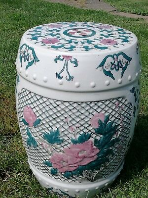 Large Oriental Ceramic Porcelain Stool / Table  Chinese