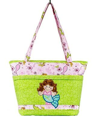 Mermaid Diaper Bag, Handmade, Brand New, Pink and Green, Gifts For Girls
