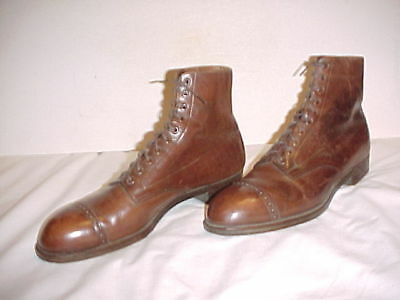 "ORIGINAL, RARE, VG+ WWI Era ""Bespoke"" Army Officer's Shoes (Size 10C)"