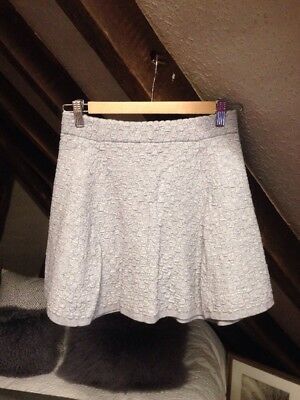Hush Mini Skirt, Size XS, 8/10, Knitted Skirt, Bamboo, Grey, Quilted/Rushed