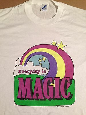 Vintage 90's NOS Everyday Is Magic Rainbow Hyper Color Dead Stock T Shirt