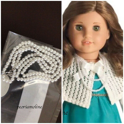 American Girl Rebecca PEARL NECKLACE from Costume Chest~ NEW White~Accessories