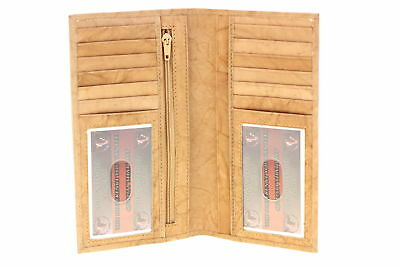Large Credit Card Wallet Checkbook Holder Mens Womens Genuine Leather 2 IDs New