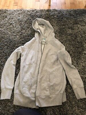 Old Navy Maternity Grey Zip-up Hoodie Coat, Size Small