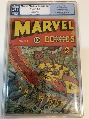 Marvel Mystery Comics #21 - PGX 5.0 Schomburg  Timely 1941