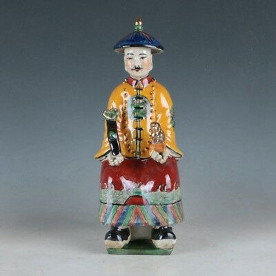 China Porcelain Hand Carved Ancient Chinese Officials Statue HDH028+d
