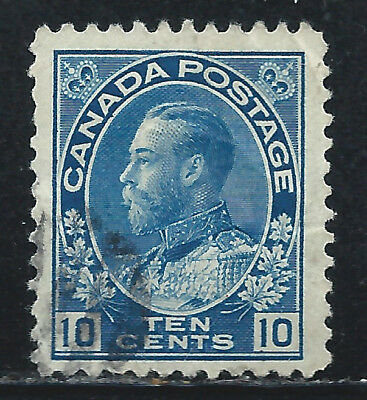 Canada #117(8) 1912 10 cent blue King George V Used CV$3.00