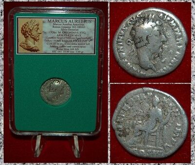 Ancient Roman Empire Coin MARCUS AURELIUS Concordia On Reverse Silver Denarius