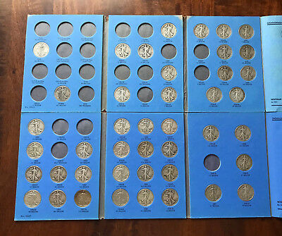 GIANT 43pc WALKING LIBERTY SILVER HALF DOLLARS SET w/ folders - INVEST IN SILVER
