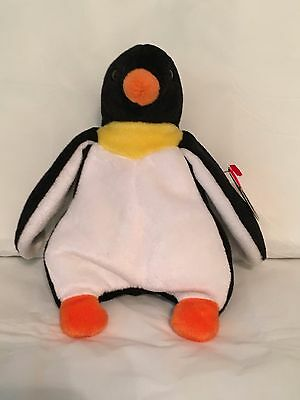 TY Beanie Baby - WADDLE the Penguin - Pristine w/ Mint Tags-PVC Pellets-RETIRED