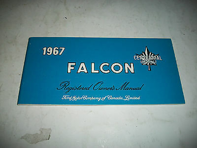 1967 Ford Falcon Registered Owners Manual New Never Used Blank Owner Info