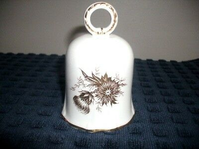 Hammersley Golden Thistle Pattern Fine Bone China Bell, FREE SHIP