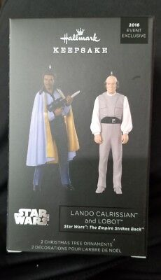2018 SDCC Hallmark Star Wars Lando & Lobot Ornament Exclusive