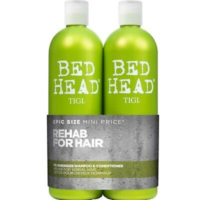 Tigi bed Tùete Re-Energize Tweens Shampooing 750ml + Après-shampooing Pack de 2