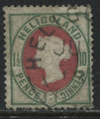 Heligoland QV 1875 10 pfennigs used