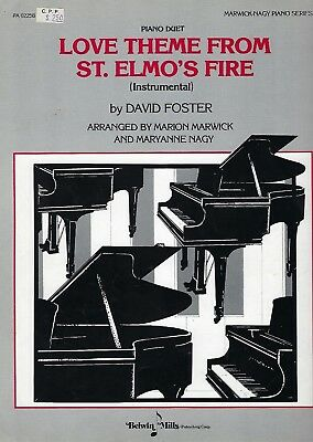 Love Theme from St. Elmo's Fire Piano Duet Sheet Music