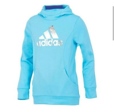 Adidas Childrens Apparel Girls Performance Hoodie Sweatshirt Size Medium