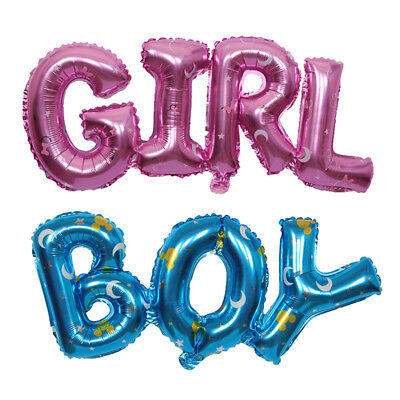 2pcs GIRL & BOY Alphabet Ballon de Foil Embellissement Douche Bébé