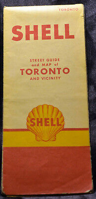 Vintage SHELL Street Guide & Map to TORONTO & Vicinity Ontario Canada