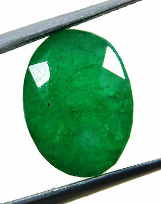 Natural 7.00 Cts. Beautiful  Oval Cut Colombian Loose Emerald Gems. 10016