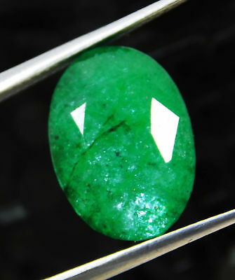 Natural 8.60 Cts. Beautiful Oval Cut Colombian Loose Emerald Gems. 9086