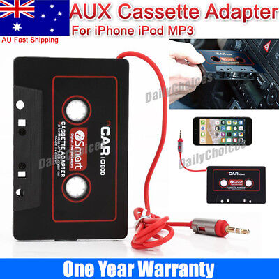 Audio AUX Car Cassette Adapter Converter Tape for iPhone iPod CD Stereo MP3 AU