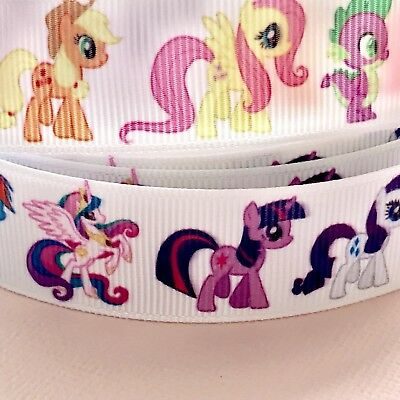 1 METRE CROSSGRAIN RIBBON MY LITTLE PONY Craft /Cake Decorations/ Gift Wrapping