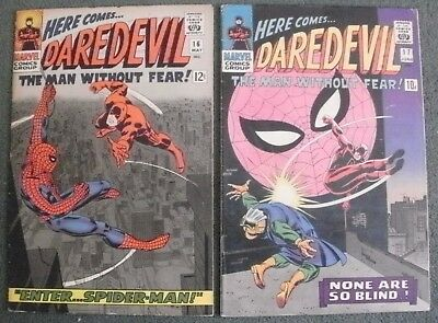 Daredevil #16 & 17 May / June 1966 Enter The Amazing Spider-Man