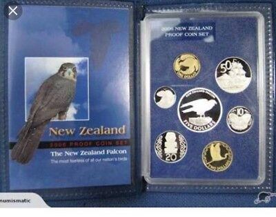 New Zealand 2006 7 Coin Uncirculated Set Falcon Mintage 4,000 Cat NZ$145