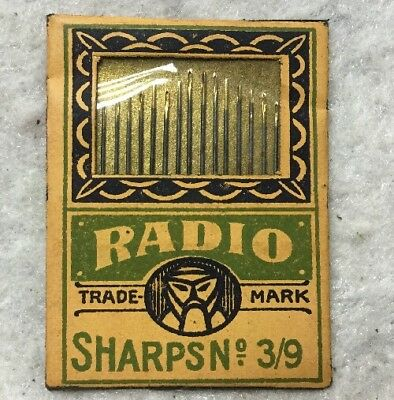 Vintage NOS Hand Sewing Needles GERMANY RADIO SHARPS No. 3/9 High Grade Steel
