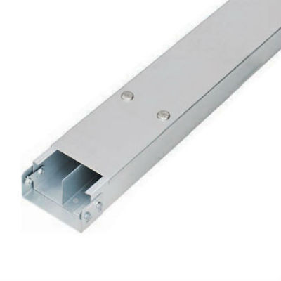 GALVANISED CABLE TRUNKING 100mm x 50mm 3m - 2 Compartment + LID + COUPLER
