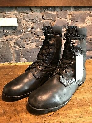 Military Black Vintage Combat Boots Size USA 13 Lace Up Preowned