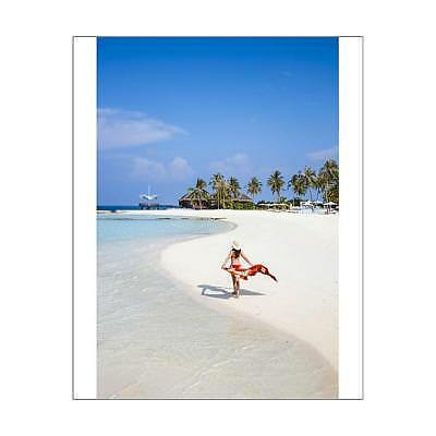 "15235217 10""x8"" (25x20cm) Print Woman on a beautiful sandy beach,..."