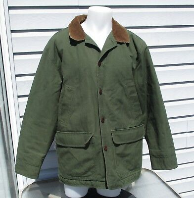L.L. Bean Green Barn / Work Jacket, Women's Size Large w lining