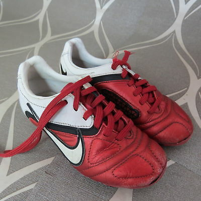 5b81167ec47 Nike CTR360 Red White 2010 Football Boots size UK C 12 (EU 30 US 12.5