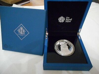 2012 UK Silver 5 ounce coin The Queens Diamond Jubilee  No Toning lot # 51