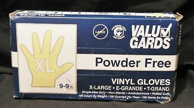 ValuGards Powder Free Vinyl Gloves X-Large 9-9.5 Reorder: 304340184 QTY 4
