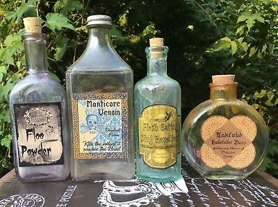 LABELS ONLY Halloween Apothecary Potion Bottles Harry Potter Party Prop DIY