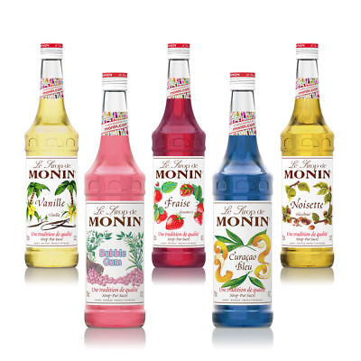 NEW Monin Coffee & Cocktail 70cl Glass Syrup Flavours